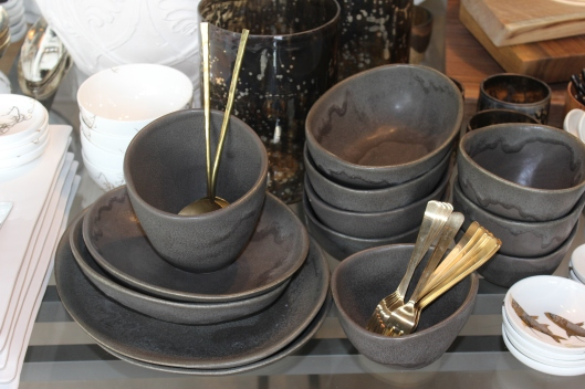 new hugo collection from alison evans in charcoal - available in ivory and additional sizes, including place settings