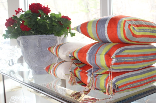 fun stripes - 100% cotton fair trade pillows