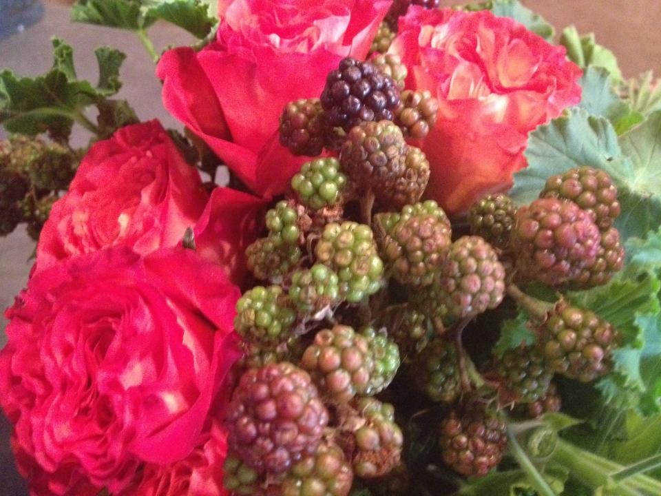 roses + raspberries