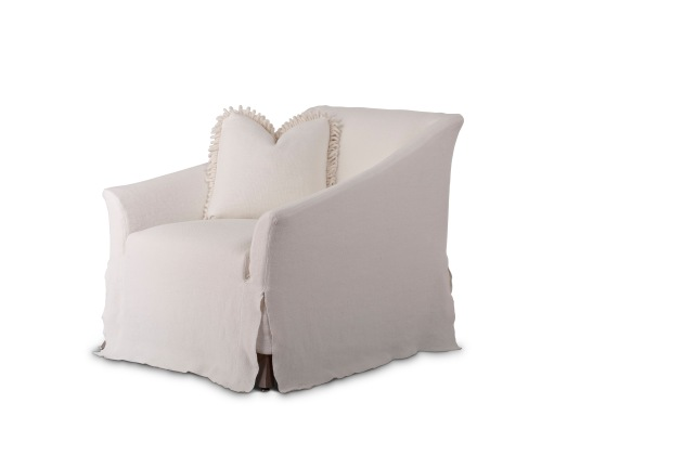 justine club chair - substantial yet airy in this linen slipcover