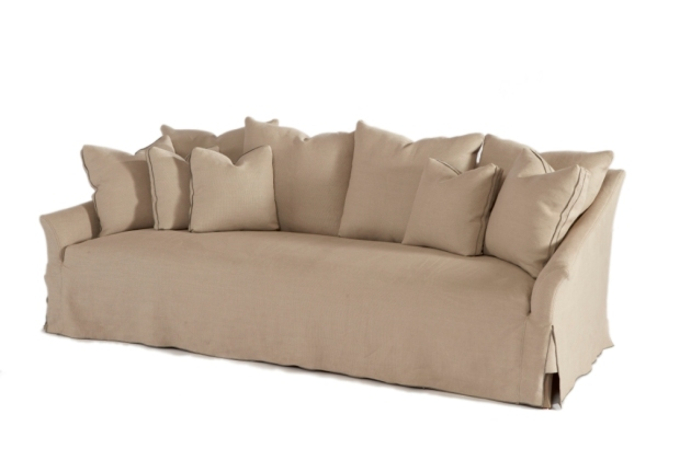 justine sofa slipcovered - down-wrapped spring bench seat makes this collection super comfy