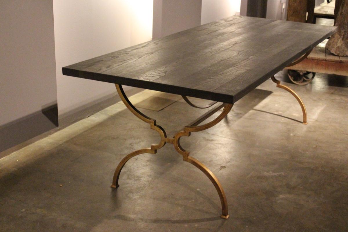 knight-table-fumed-rough-cut-oak-gold-wax-base