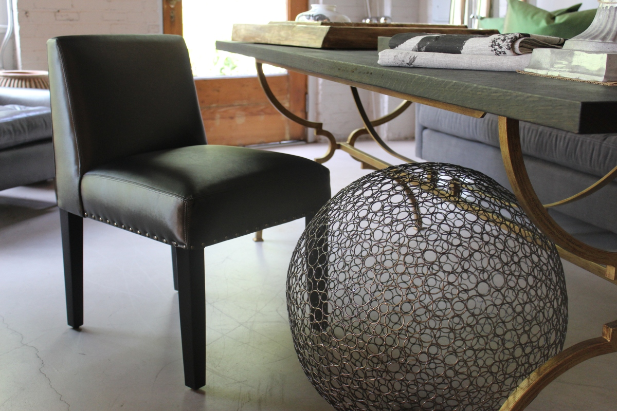 Thibaut Chair in VINYL - soft, buttery vinyl (feel it to believe it) - a great everywhere or anywhere chair. Dimensions: 21