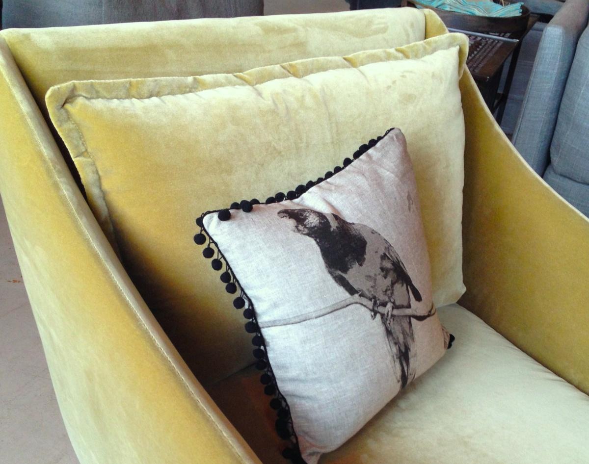 mabel swivel chair in a sage velvet