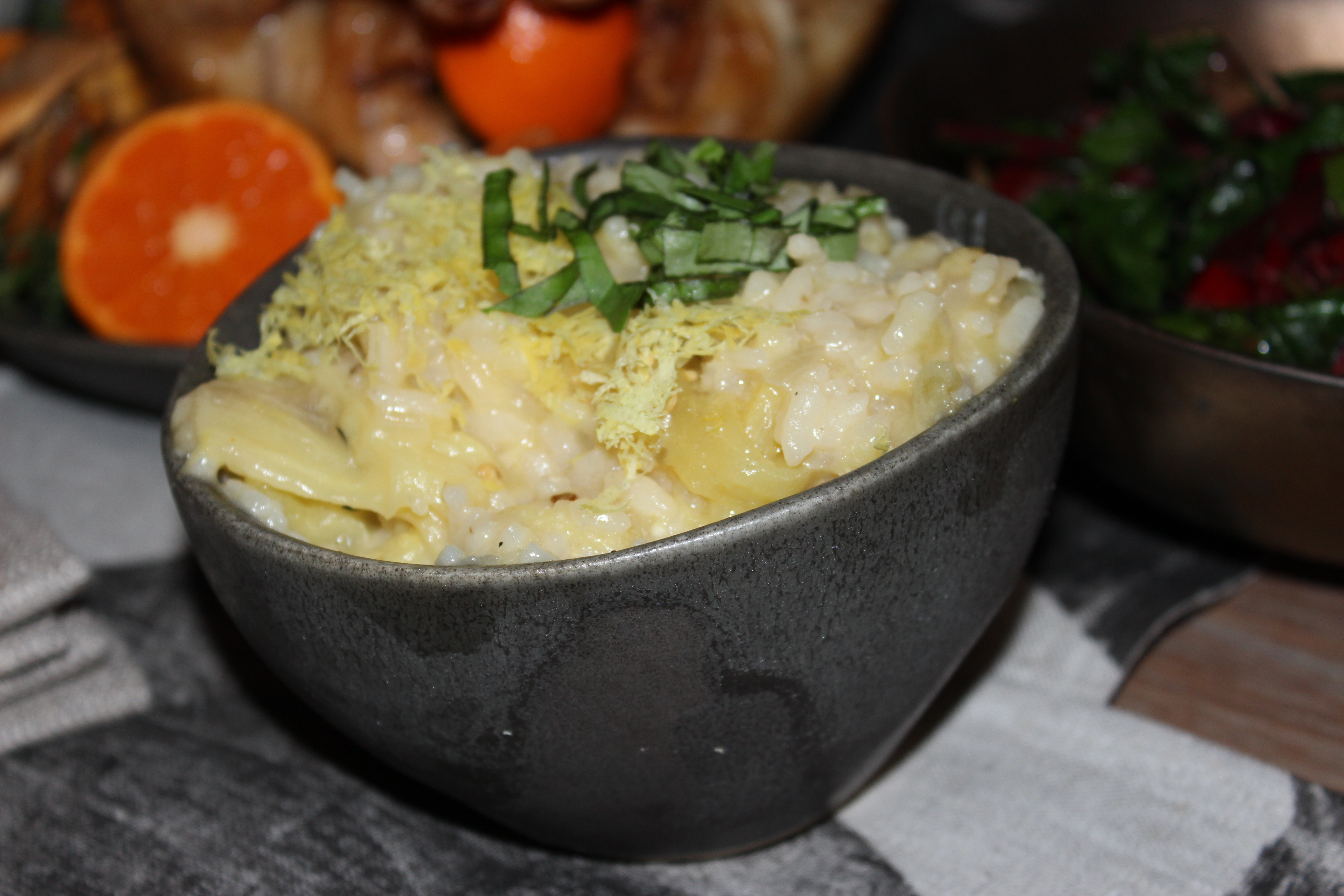 Eggplant And Meyer Lemon Risotto Recipe — Dishmaps
