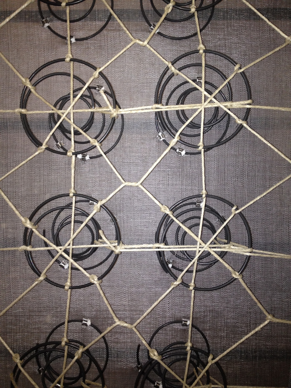 8 way hand tied (upcycled metal) springs