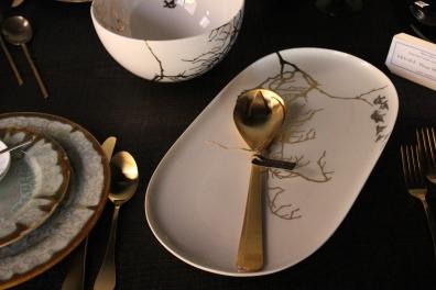oval platter - in platinum + gold - designed in massachusettes