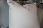 100% cotton pillows - lumbar + square in porcelaine