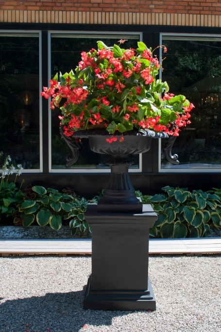 hello mr. selfridge! this is the chelsea urn - substantial - yet light enough to move easily - use in a special small spot or in a grand expanse