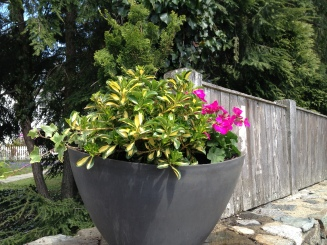 half moon composite planter - fit for all seasons