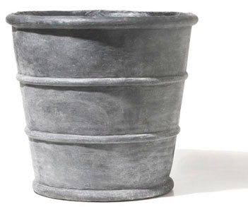 conical strapped planter - 2 sizes, delightful as pairs