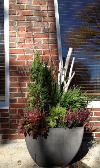composite planter - winter composition