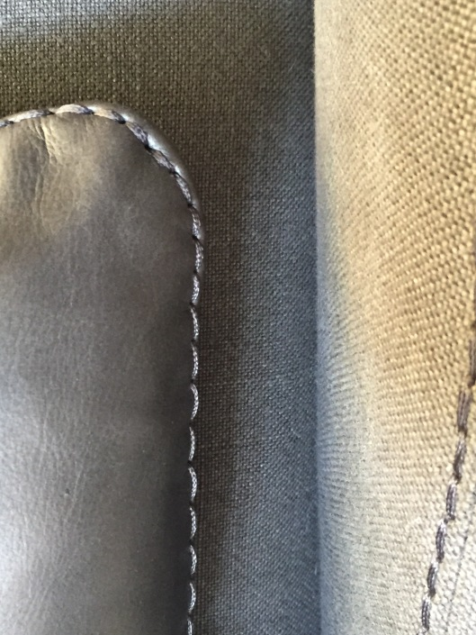 stitch detail (optional) on the Arnaud Wing chair from Verellen