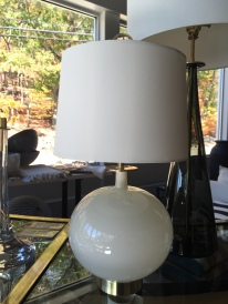 blown glass lamps, iconic shapes, silk shades...joe cariati
