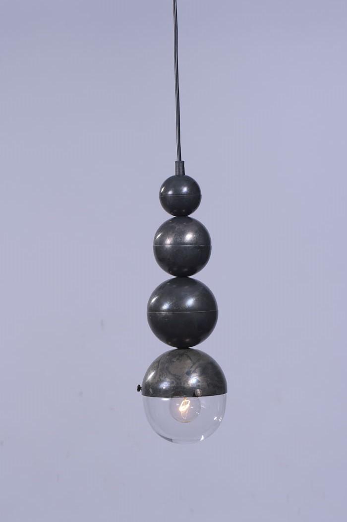 4 rounds pendant_Black Vintage Silver