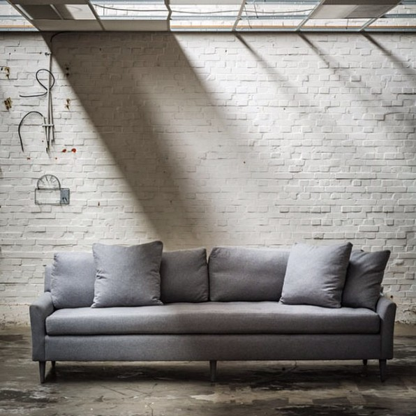 Blanche Sofa Grey Flannel@Euro Showroom Dec2014