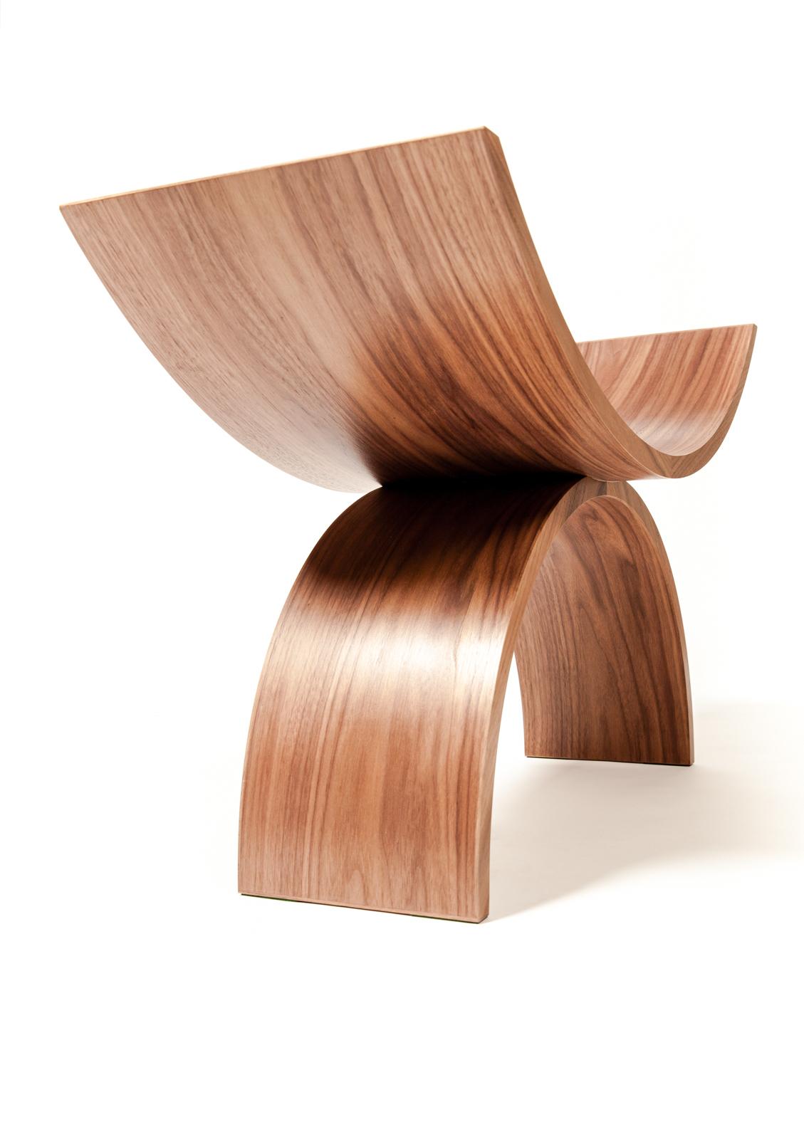 tangent curves chair walnut-side@artefacthome